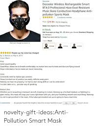masque anti pollution anglais